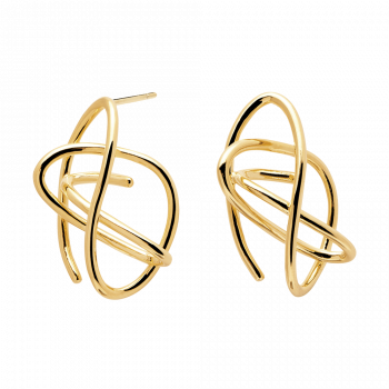Esha gold earrings